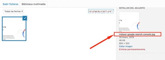 optimizar nombres archivos de las imagenes