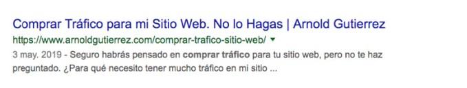 ejemplo de resultados con fechas en google