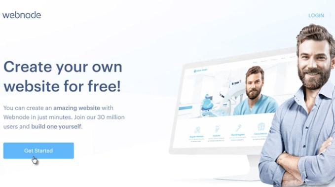 webnode portal web para creacion de paginas web