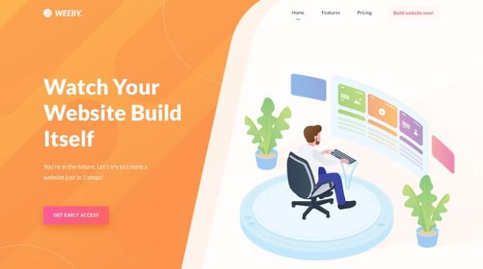 weeby portal web para creacion de paginas web