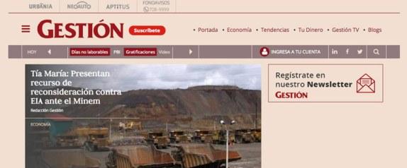 gestion.pe portal de noticias economia en peru