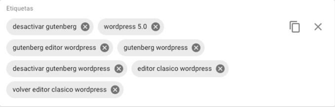 etiquetas palabras clave youtube