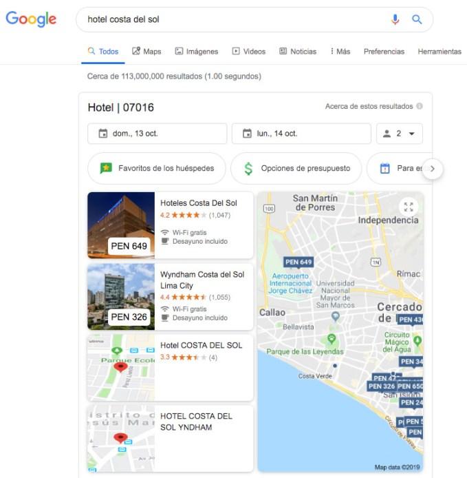 posicion cero por google industria hoteles