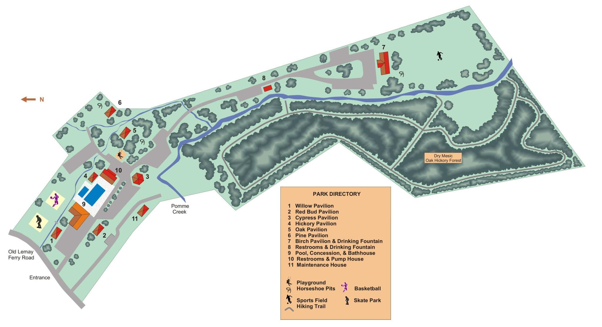 Ferd B. Lang Park map