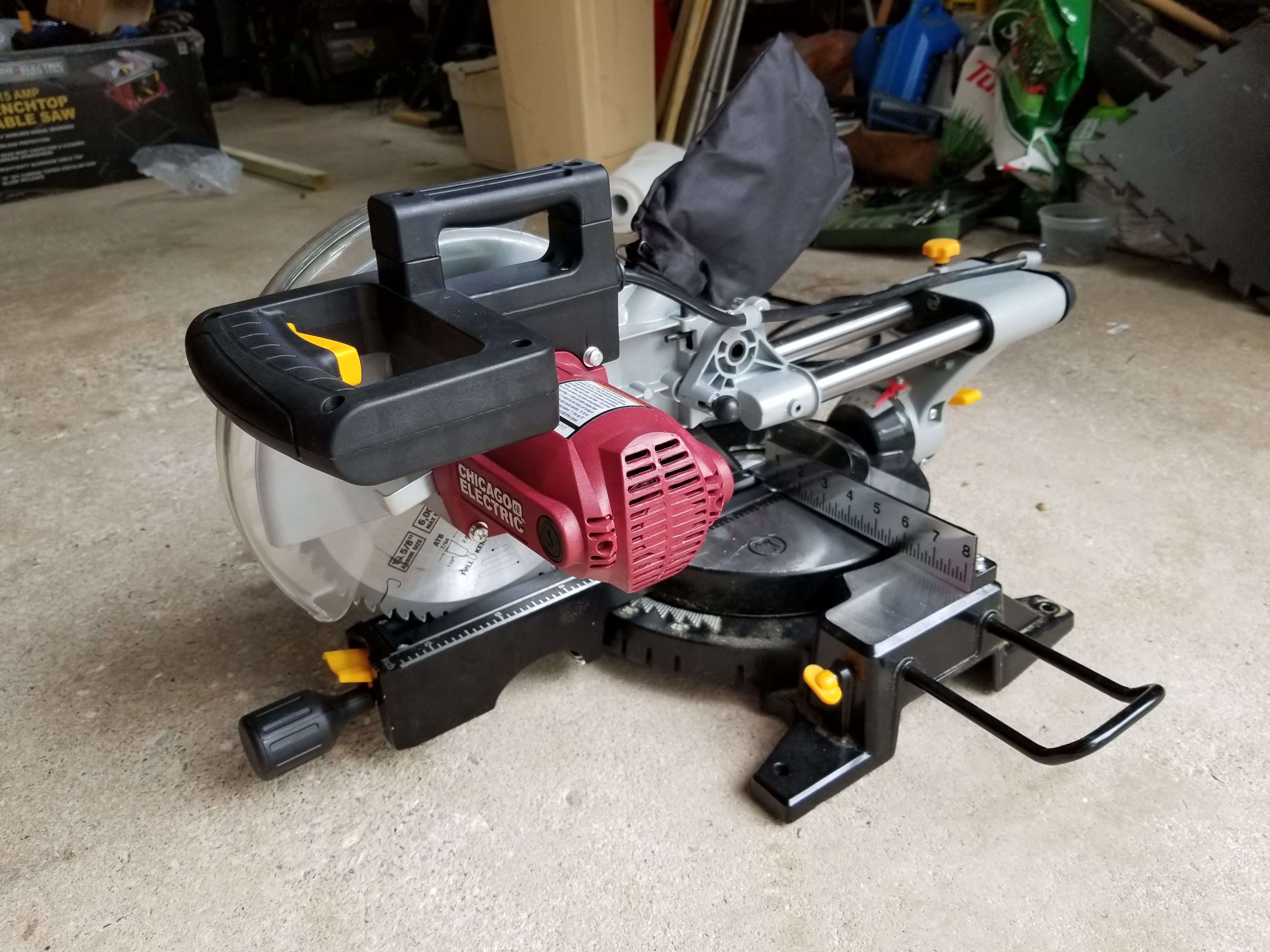 harbor freight 10 inch sliding compound miter saw 61972 review