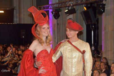 Designer Frederic Luca Landi met model Clémence Deglasse