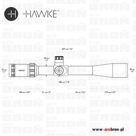 Luneta celownicza Hawke Sidewinder Tactical 8,5-25x42 20x