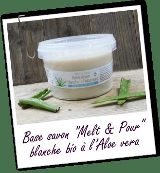 Base Melt & Pour blanche biologique à l'Aloe vera Aroma-Zone