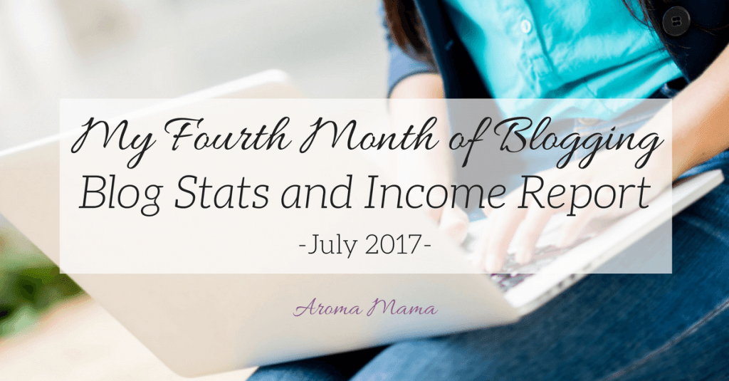 My Fourth Month of Blogging: Blog Stats and Income Report