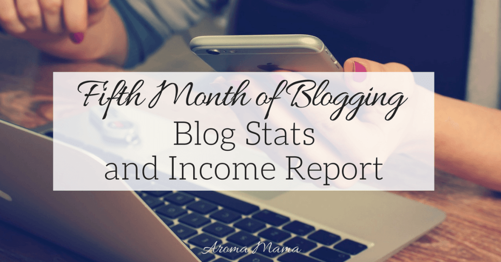 My Fifth Month of Blogging Blog Stats and Income Report