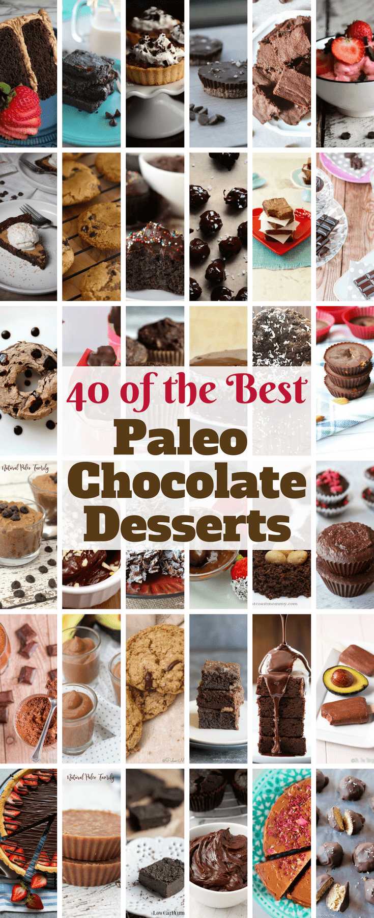 Chocolate is so festive for any time of year! Enjoy this collection of forty of the best Paleo chocolate desserts on the web!