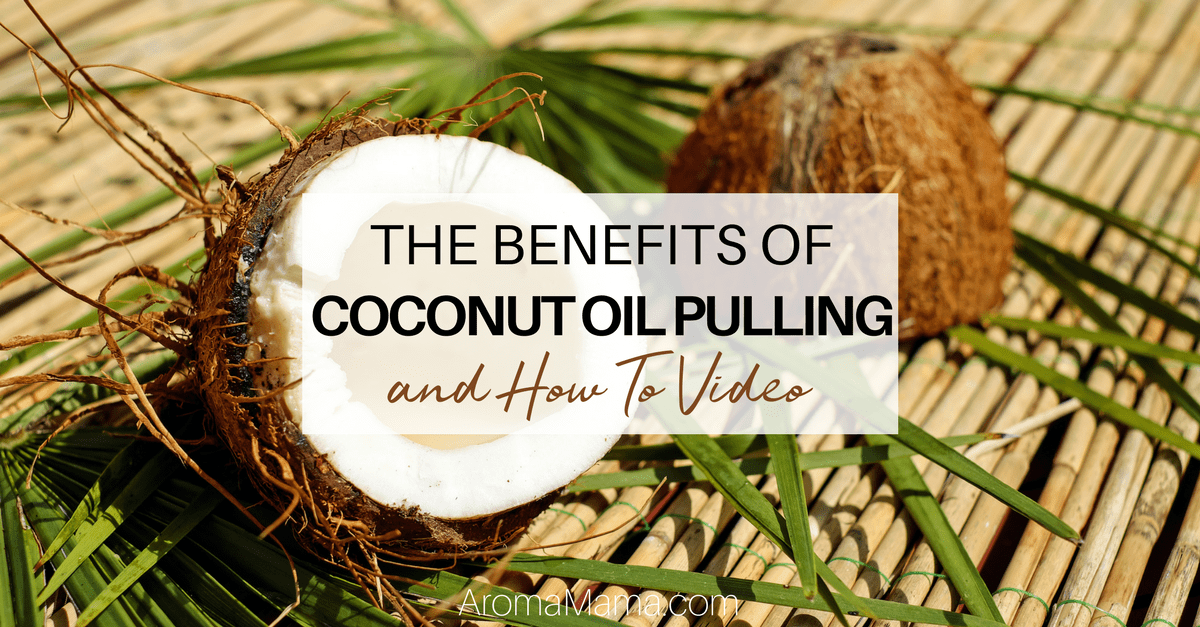 Two coconuts. The Benefits of Coconut Oil Pulling and How to Video