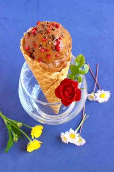 Vegan Chocolate Sweet Potato Ice cream