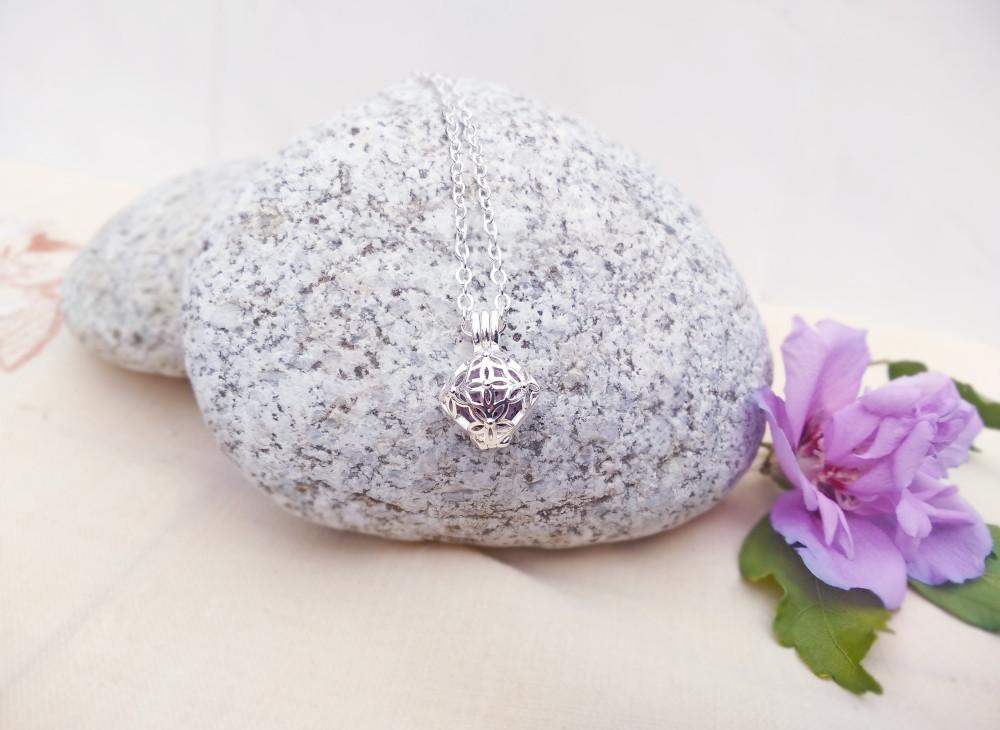 Aroma šperk hviezda postriebrený dekor
