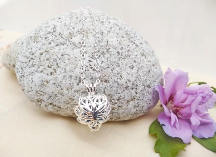 Aroma šperk kvet lotos postriebrený dekor