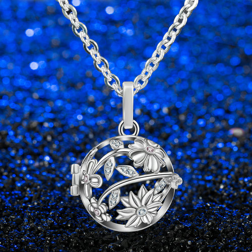 Aroma šperk slnečnica postriebrený 500x500