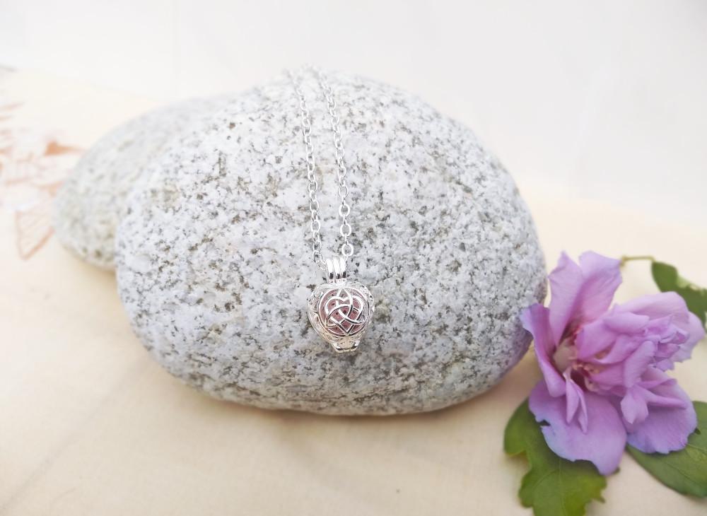 Aroma šperk srdce života postriebrený dekor