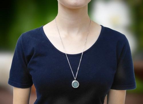 aroma šperk mandala s kryštáľom na krku
