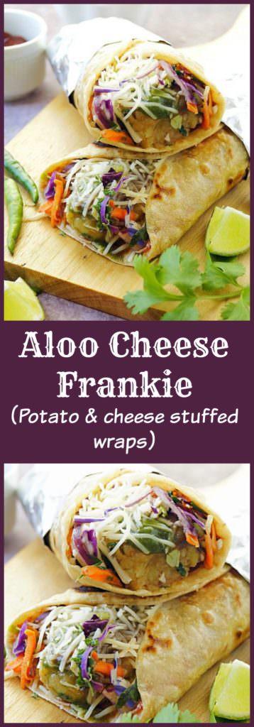 Veg Frankie | Aloo Cheese Frankie | Potato & Cheese Wraps