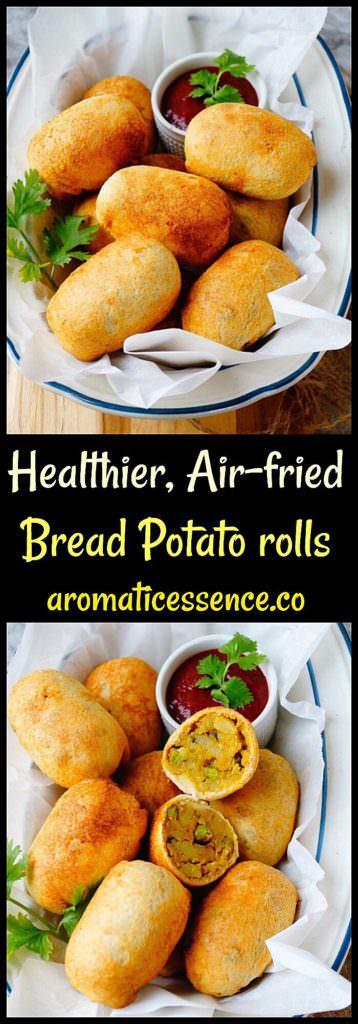 Indian Bread Rolls Recipe | Air-fried Indian Stuffed Bread Potato Rolls