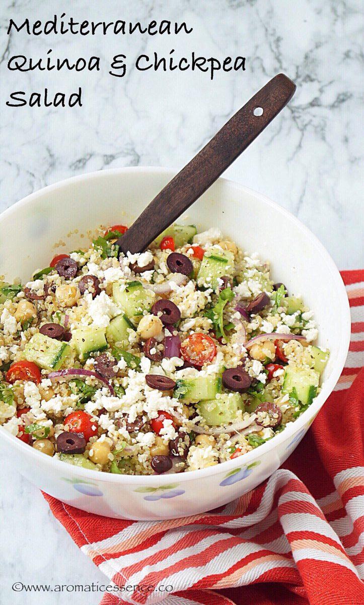 Mediterranean Quinoa & Chickpea salad