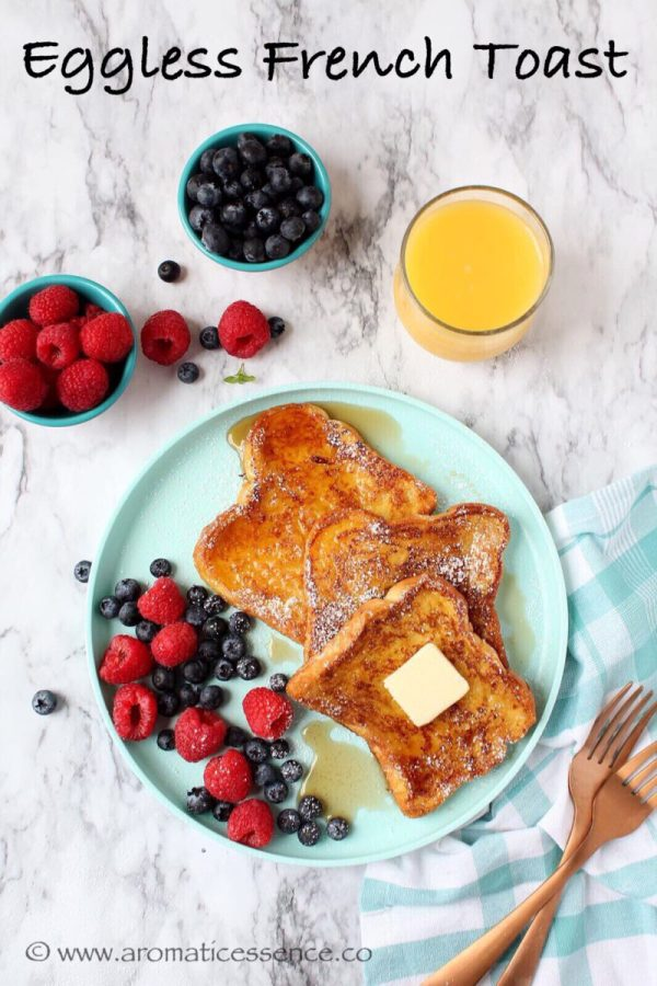 Eggless French toast | Egg-free French toast