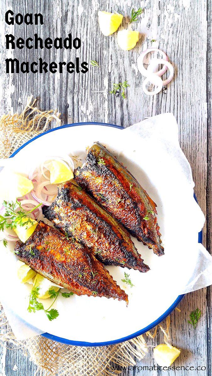 Recheado mackerels | Goan style stuffed mackerels | Recheado Bangdo