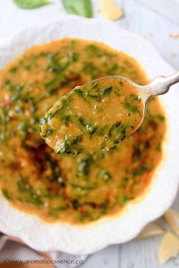 Dal Palak Recipe   Spinach Dal   Indian Lentil & Spinach Curry