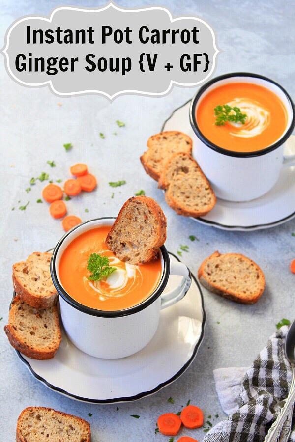 Instant Pot Carrot Soup With Ginger | Vegan Carrot Ginger Soup