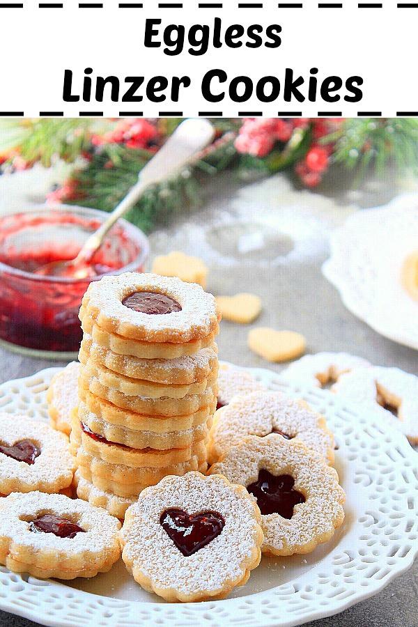 Linzer Cookies Recipe {Eggless}   Linzer Augen Recipe