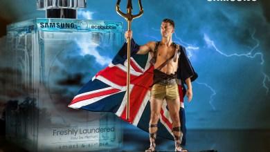 صورة عطر سامسونج الجديد بالتعاون مع أحد الفائزين بالميدالية الأولمبية