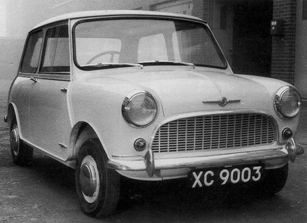 XC9003, 1958 This Morris-badged car's compromise grille design is close to that which finally reached production