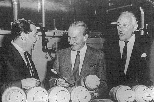 The three most important figures in the Mini's development and subsequent success: (left to right) John Cooper, Alec Issigonis and Alex Moulton.