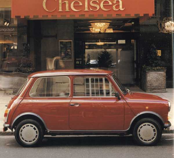 The Mini Chelsea: Like so many special edition Minis of the 1980s, this was named after a London district.
