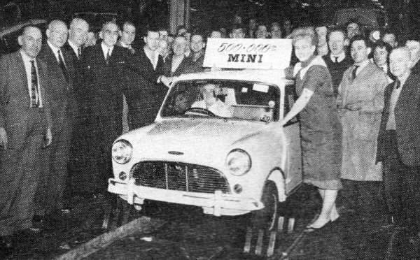 By December 1962, half a million Minis had been built