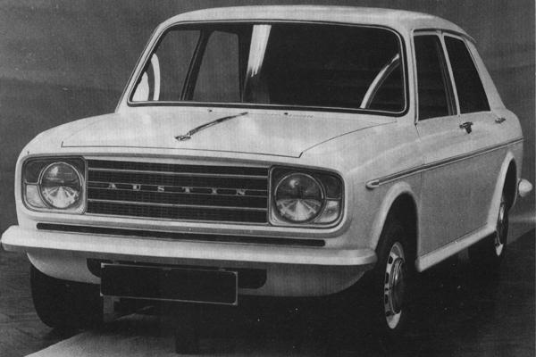 This facelifted version of ADO16 was investigated prior to the 1968 merger. It appears to bear the hallmark of Roy Haynes, particulary in the way the headlamp/indicator set-up resembles that of the MkII Ford Cortina.
