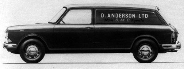 This mid-Sixties panel van proposal never made it past the drawing board, and that's a shame because it could also have spawned a capacious estate car using the same bodyshell. However, BMC noted that its existing A55 van – with its taller rear bodywork and vertical rear doors – offered a 20%-greater load space than this proposal would have done, so the A55/A60 was allowed to soldier on until it was finally replaced by the similarly-configured Marina-based van.