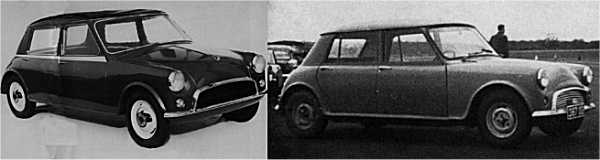 First Issigonis thoughts of a 1500cc B-Series powered family car can be traced back to the 1956 XC9000.