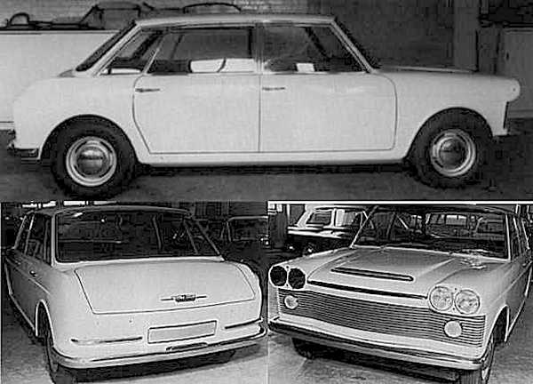 October 1958 and the styling is radically changed as the XC9001 is grown to accommodate the  upcoming 1.8-litre version of the B-Series engine – the styling (above and below) is now very recognisably  a Landcrab, although the frontal treatment has some way to go from this unsatisfactory Rootes Group  proposal.