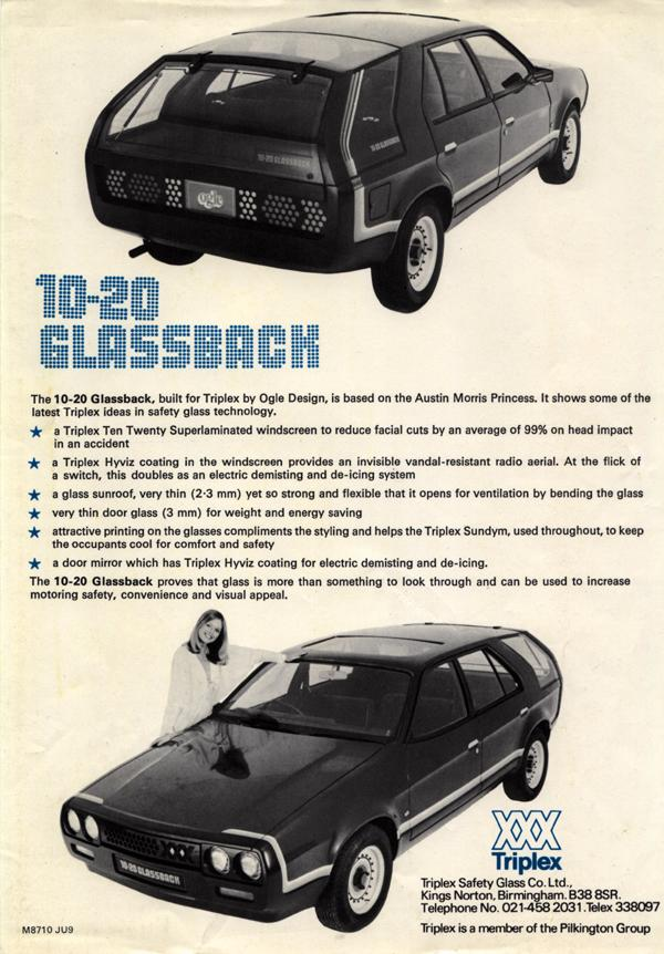 Original 1978 Motor Show handout.