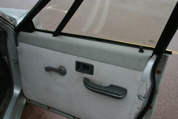 Let's play spot the parts-bin components on this minimalist door casing...