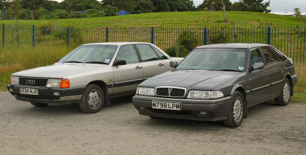 Rover 800 meets Audi 100 - which would you have?