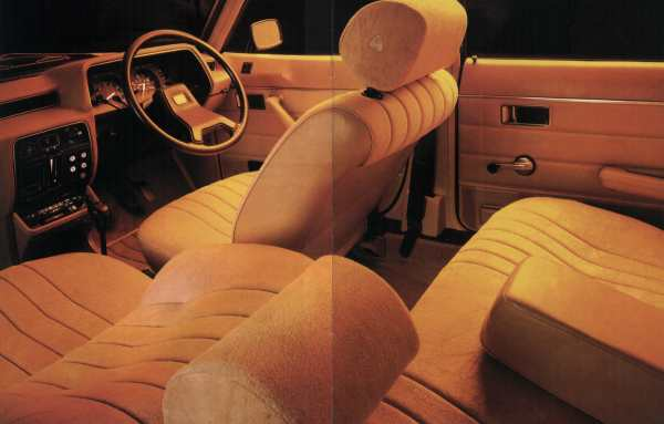 Alpine interior was commodious and smart.