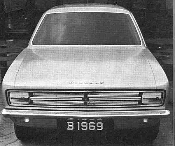 The model that was signed off by the management. Some fine tuning was still required at the front of the car, but the shape was now settled. The di-noc'ed version of this car was given the green light on the 16th November 1965.