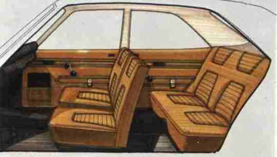 Two styling themes for the interior, as produced under the guidence of Executive Styling director, Bob Saward.
