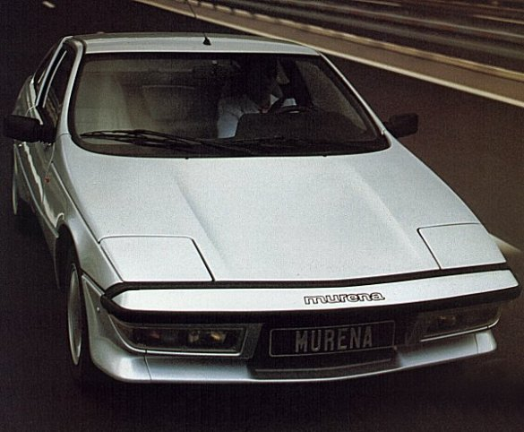 Publicity photo of the Murena at home on the Autoroute. Directional stability and lack of wind noise at high speed were plus points, but it was also pretty effective on twisty roads. Even though it was offered with a 2.2-litre engine, the chassis still cried out for more power.