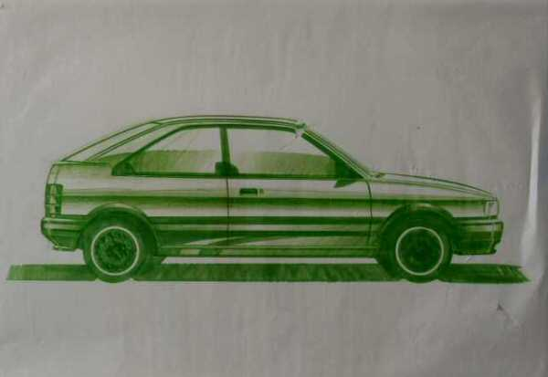 It looks even sleeker with a Renault 11-style glassback rear window.