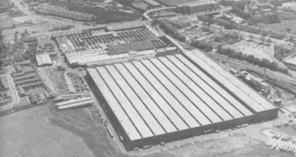 Longbridge, viewed from the air: After a number of factory closures and along with Cowley in Oxford, all BL's output would eventually be centred here. A lot of controversy has been centred on this factory, as the heart of Austin's operation in Birmingham. The plant received a huge boost in terms of technology in anticipation for Metro production, in 1980. Unlike Cowley (now owned by BMW), the future of this factory still hangs in the balance after all these years.