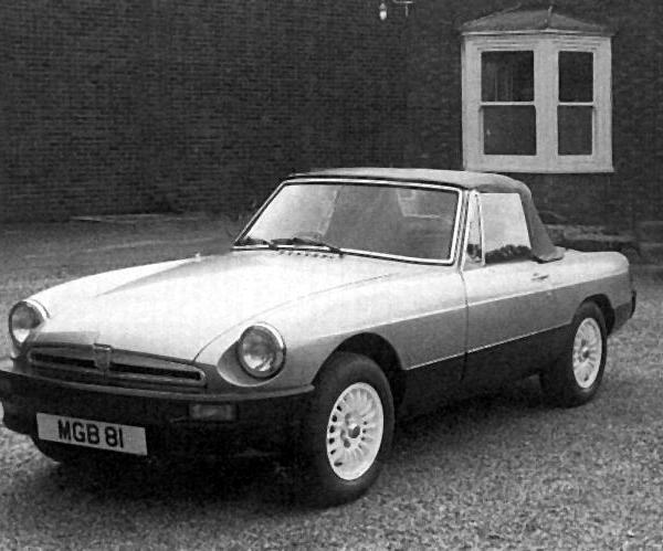 Aston-Martin MGB? This makeover of the MGB was sympathetically completed and shown to the press by the consortium that intended to take over the company and continue where BL left off. Minor changes gave the MGB a more up-to-date appearance, and its O-series power unit was an interesting choice, as MG had initially embarked on the development of this engine at Abingdon many years before.