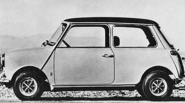 Profile shot of the Authi Mini-Cooper